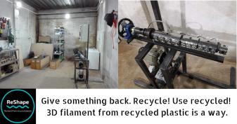 Află povestea ReShape, startup-ul care produce filament pentru imprimante 3D din plastic reciclat